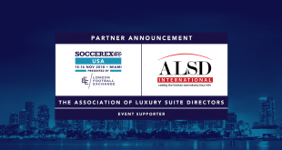 Soccerex to partner with ALSD for London and Miami conferences!