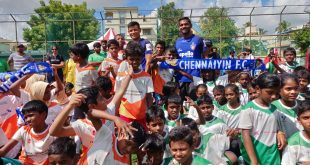 Chennaiyin FC players inaugurate Just For Kicks league for children from low-income schools in Chennai!