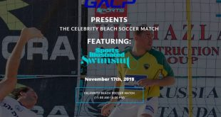 GACP Sports and SI Swimsuit present the inaugural Celebrity Beach Soccer Match!