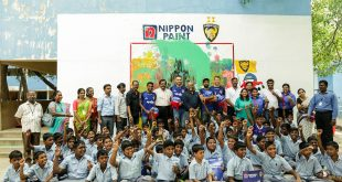 Chennaiyin FC participate in launch of arts-based learning program by Nippon Paint & InkLink Trust!