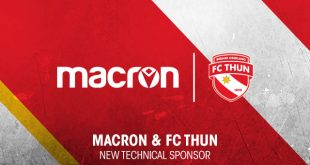 Macron named as new Technical Sponsor of Swiss side FC Thun!