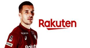 Rakuten announces new partnership with Lukas Podolski!