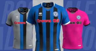 New Rochdale AFC kits by Errea for 2019/20 season launched!