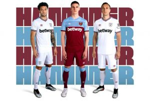 0aad7dd49 The kit launch season continues with the arrival of West Ham United's 2019/20  season with the UMBRO-made home and away kits.