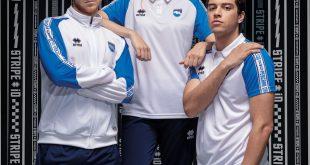 Errea presents the STRIPE iD leisure wear range produced for Pescara Calcio!