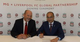 MG Motor turns global car partner of Liverpool FC!
