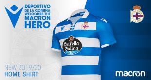 Macron & Deportivo de La Coruna 2019 present the 2019/20 home kit!