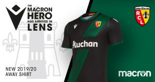 The club anthem on the new away shirt of RC Lens by Macron!