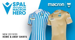 Tradition & Gold in the new Macron jerseys for S.P.A.L.!