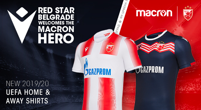 Red Star Belgrade Macron Unveil The New Uefa Kits For The 2019 20 Season