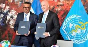 WHO and FIFA team up for health!