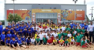 Smiles on the sand at the Beach Soccer Festival!