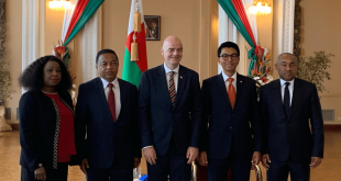 FIFA and CAF Presidents meet President of Madagascar Andry Rajoelina!
