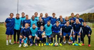 Footballing legends complete UEFA masters course!
