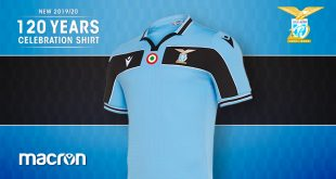Macron & Lazio Roma celebrates 120 years of history with a special shirt!