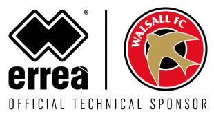 Errea & Walsall FC extend their Technical Partnership!