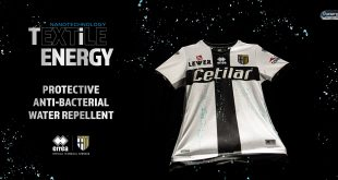 Parma Calcio strip to be made in new Errea made Ti-Energy Anti-Bacterial Fabric!