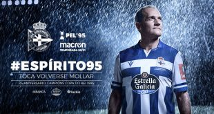 Deportivo La Coruna & Macron present 1995 homage of home kit!