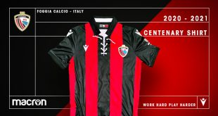 Foggia Calcio wears its history with Macron-made centenary shirt!