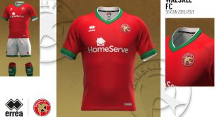 Errea's new Walsall FC 2020/21 shirts, a modern style & geometric pattern!