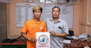 NEROCA sign talented forward Wakambam Michael!