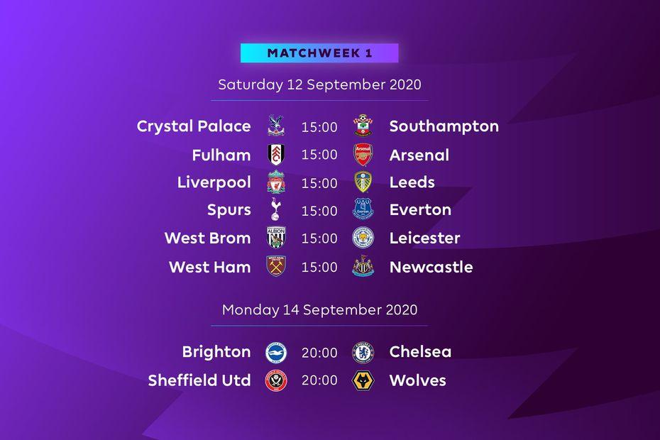 The 2020/21 Premier League season fixtures released!