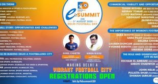 Line-up for Football Delhi eSummit on Delhi Football Day, August 3!