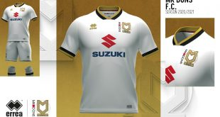 MK Dons home shirt: Elegance & simplicity by Errea Sport!