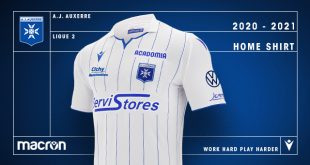 The new home shirt by Macron for AJ Auxerre!