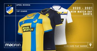 Yellow & Navy Blue in new jerseys that Macron created for APOEL FC!