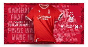 Garibaldi Red is colour of the new Macron-made Nottingham Forest home kit!