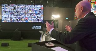 President Infantino uses virtual FIFA Congress platform to encourage football's safe return!