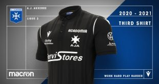 Total black new third kit by Macron for AJ Auxerre!
