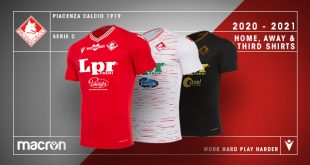 Traditional red, white melange & black in three new Macron kits for Piacenza Calcio 1919!