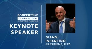 Soccerex to welcome FIFA president Infantino to Soccerex Connected!