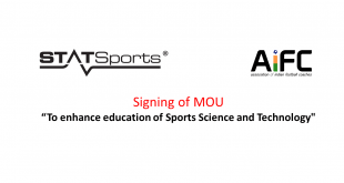 STATSports & AIFC sign MoU with aim to enhance education of sports science & technology!