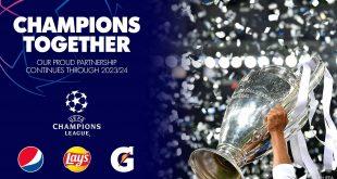 PepsiCo renews UEFA Champions League partnership until 2024!