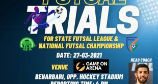 Guwahati City FC to organise Futsal trials!