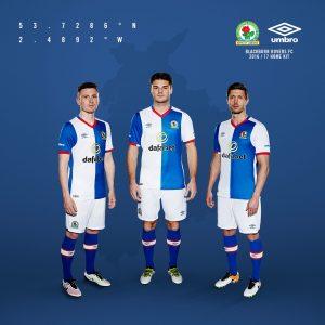 UMBRO - Blackburn Rovers 2016 home kit
