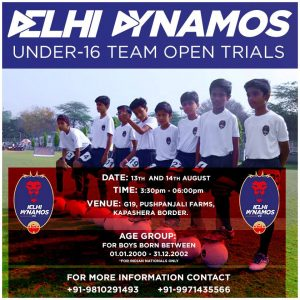 Delhi Dynamos Under-16 trials