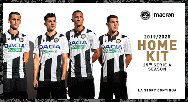 A look to the past in new 2019/20 home kit by Macron for Udinese Calcio!