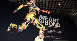 """FIFA World Football Museum displays """"Meant to Bond"""" sculpture by Olympic champion Josephine Henning!"""