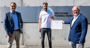 "UEFA hands Germany's ""In Safe Hands"" with award & 50,000 Euros!"