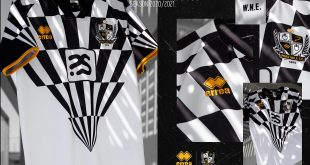 Errea-made Port Vale FC 2020 home kit inspired by Robbie Williams!