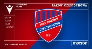 Macron is new Technical Sponsor of Rakow Czestochowa!