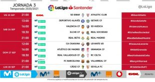 Kick-off times released for Matchday 3 of 2020/21 LaLiga!