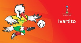 Dancing stork debuts as 2021 FIFA Futsal World Cup – Lithuania mascot!