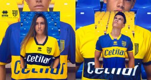 Yellow & Blue shirt, divided into twin versions, the new Parma Calcio away kit by Errea!