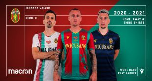 Mythological Wyvern & an optical graphic caracterize the new Macron kits for Ternana Calcio!