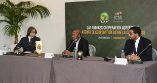 Africa's CAF signs partnership agreement with International Centre for Sport Security!